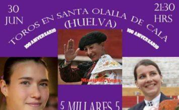 Tres mujeres toreras para Santa Olalla de Cala.