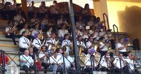 La muy numerosa banda de Consolación de Huelva. (FOTO: Javier Martínez)
