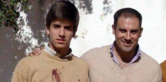 El joven Emilio Silvera con Miguel Báez 'Litri'.