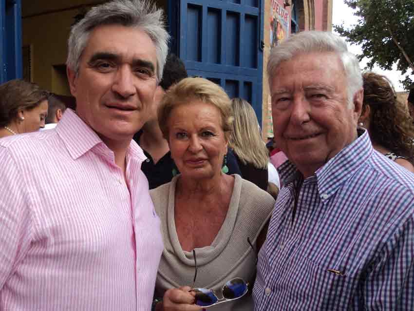 El empresario Pepe Cutiño y el ganadero José Luis García Palacios.