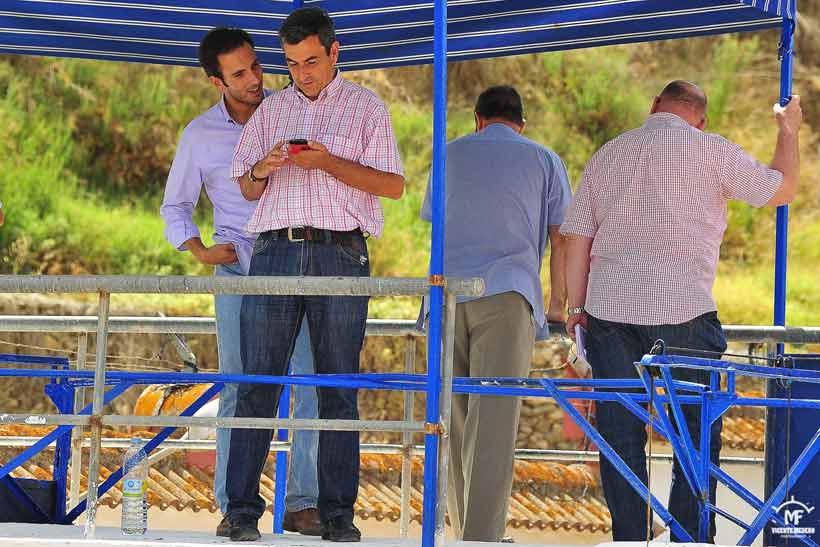 El ganadero José Luis Pereda y el empresario Carlos Pereda.