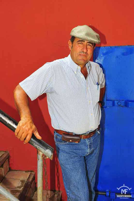 Miguel, el mayoral de la ganadería de José Luis Pereda.