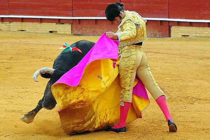 Excelente toreo a la verónica de Morante. (FOTO: Vicente Medero)