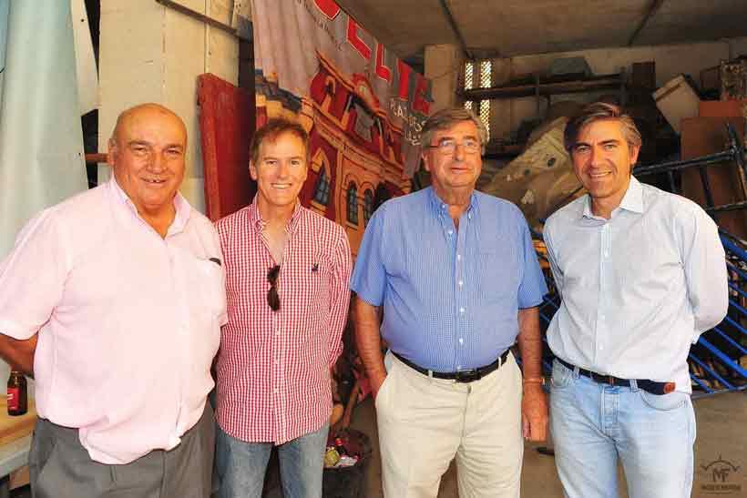 José Luis Pereda, Enrique Romero, Sáncho Dávila y Óscar Polo.