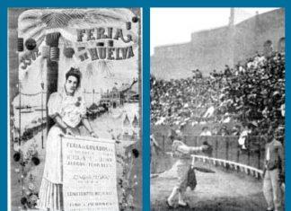 Cartel de la inauguración de La Merced y uno de los dos festejos inaugurales.
