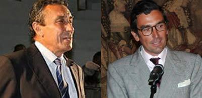 Los ganaderos Fernando Cuadri y Tomás Prieto de la Cal.
