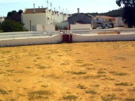 Vista de la plaza de toros onubense de Campofrío.