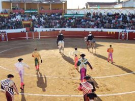 La plaza de Valverde ha acogido festejos taurinos el dia de Reyes.