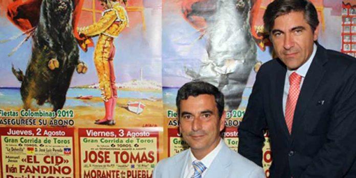 Carlos Pereda y Óscar Polo, empresario de La Merced.