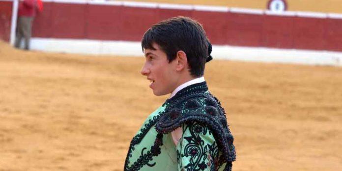 El novillero onubense Alejandro Conquero.
