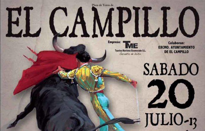 Cartel anunciador del festejo mixto de mañana sábado en El Campillo.