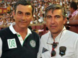Los empresarios onubenses Carlos Pereda y Óscar Polo.