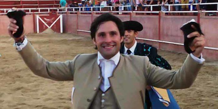 El onubense Andrés Romero, con el triunfo de esta tarde en Masueco.