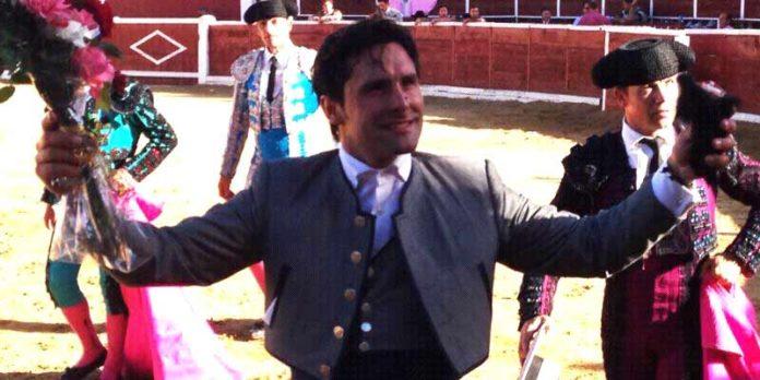Andrés Romero, en el festejo celebrado esta tarde en Nava de Asunción.