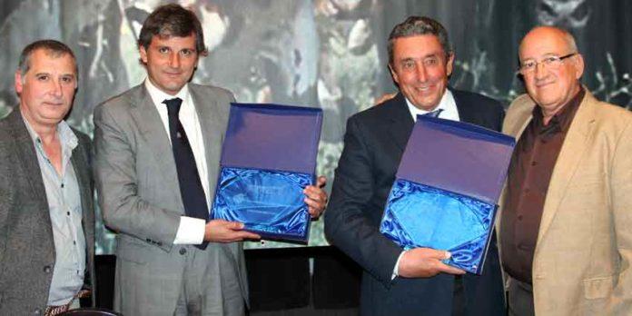 Los onubenses Jorge Buendía y Fernando Cuadri al finalizar la sesión de las Jornadas Taurinas de Almodóvar del Campo.