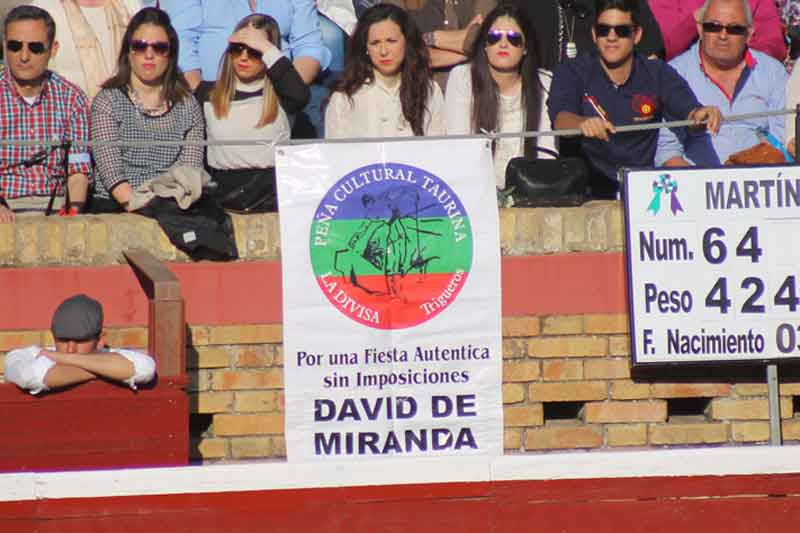 Apoyos para David de Miranda.