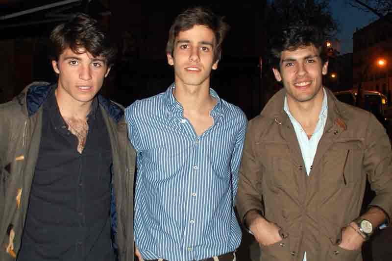 Los novilleros Rafa Serna, Silvera y Alejandro Pavón.