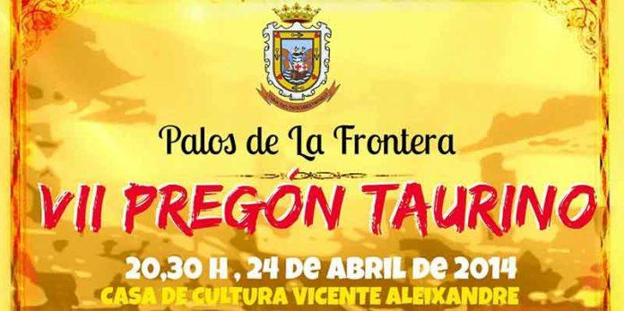 Cartel anunciador del Pregón de Palos de este año.