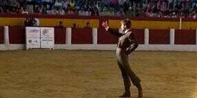 El onubense Emilio Silvera saludando hoy en Cehegín.
