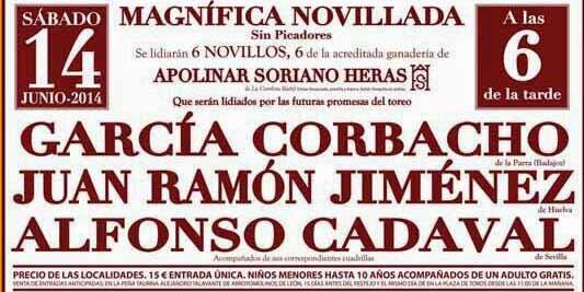 Cartel del festejo de Arroyomolinos.