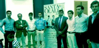 Acto de presentación de los festejos taurinos de Santa Olalla del Cala.
