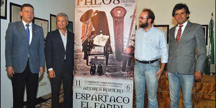 Acto de presentación de la quinta corrida de toros pinzoniana, con Espartaco. (FOTO: Arizmendi)