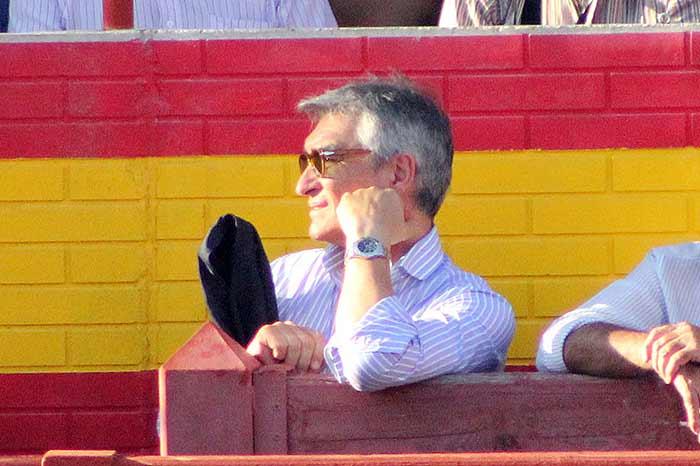 El empresario Pepe Cutiño no quiso perderse la vuelta de Espartaco.