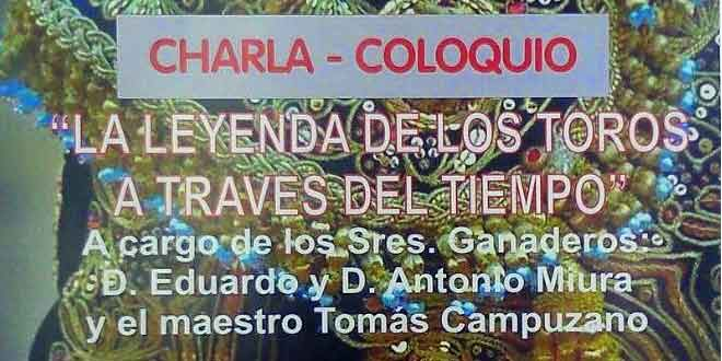 Cartel anunciador de la charla en Almonte.