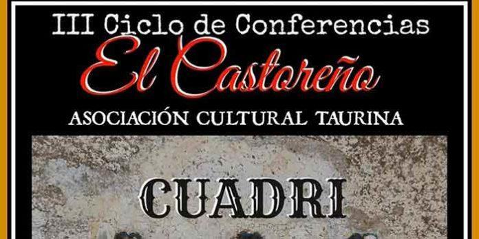 Cartel anunciador de la charla con Cuadri en San Juan del Puerto.
