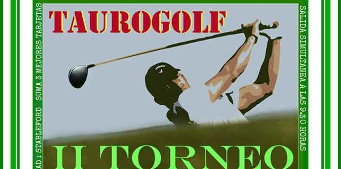 Cartel anunciador del II Torneo 'Taurogolf' de Huelva.