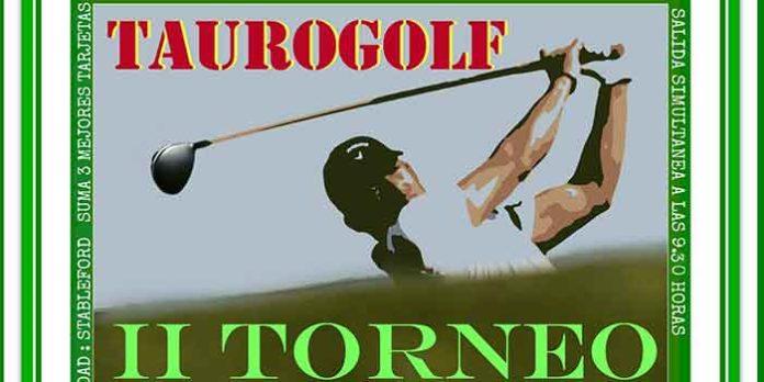 Cartel del II Torneo 'Taurogolf' en Aljaraque (Huelva).
