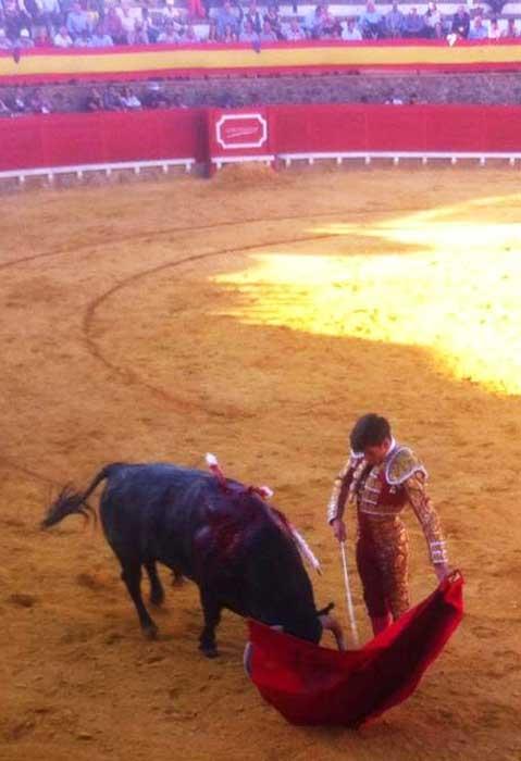 José Garrido. esta tarde en Cortegana. (FOTO: Arizmendi)