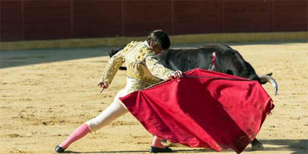 Muletazo de Emilio Silvera en la Línea. (FOTO: desdelcallejon.com)